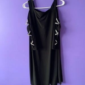 Black dress with silver rhinestones sleeves